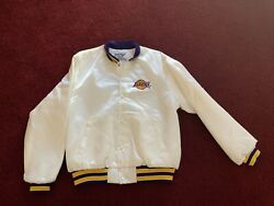 Lakers Swingster Jacket Size M White Authentic Vintage