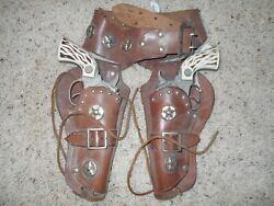 1950's Marshal Die Cast Cap Gun And Leather Holster Set