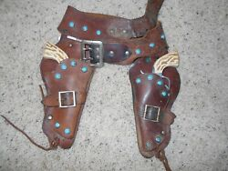 1950's Daisy Die Cast Cap Gun And Leather Holster Set