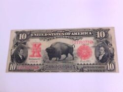 Decent 1901 10 Ten Dollar Buffalo Bison United States Note Currency. Buy Now