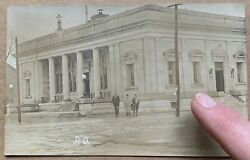 1913 Peru, In, Post Office Great Flood Natural Disaster Real Photo Postcard Rppc