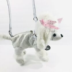White Poodle Dog Plush Purse Tote Girls Accessory $8.99