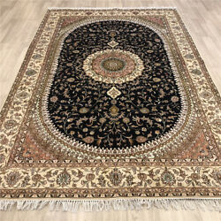 Yilong 6'x9' Handknotted Silk Carpet Traditional Home Interior Area Rug Y488c
