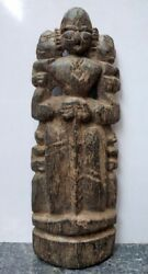 1850and039s Antique Wooden Hand Carved Indian Tribal Goddess Putali Figurine Statue