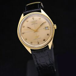 Longines Ultra-chron 70s 18 Kt Gold 37 Mm Ref 7950 Automatic Serviced + Box