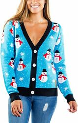 Tipsy Elves Ugly Christmas Sweater Inspired Women's Cardigans - Adorably Cute Pa
