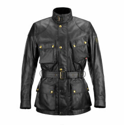 Belstaff Classic Tourist Trophy 3/4 Wax Cotton Motorcycle Jacket With Belt Small