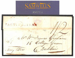 Gb Ireland Cover Castlewellan Down 1826 Money Letter Registered Mail Ms2155
