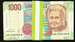 Lot Of 33 - 1990 Italy 1000 Mille Lire - Paper Money Banknotes Currency