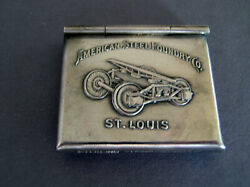 Sterling Silver Advertising American Steel Foundry Stamp Case Box Safe
