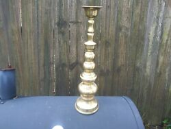 Vintage Homco Tall Brass Candlestick Candle Holder 18quot; Tall quot;Japanquot;
