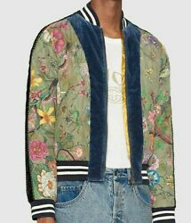 Flora Snake Print Silk Quilted Bomber Jacket Size 46 M
