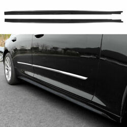 Fit For Cadillac Ct5 19-2020 Abs Carbon Fiber Side Skirts Extension Spoiler Lip