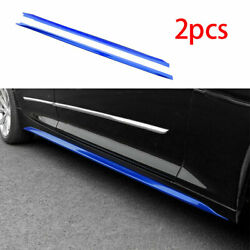 Fit For Cadillac Ct5 2019-2020 Abs Blue Side Skirts Extension Spoiler Lip 2pcs