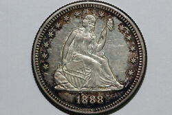 1888-s Liberty Seated 90 Silver Quarter Grades About Uncirculated Murry102