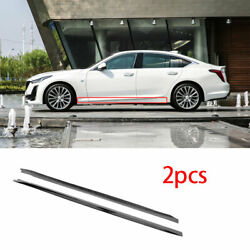 Fit For Cadillac Ct5 2019-2020 Abs Gray Side Skirts Extension Spoiler Lip 2pcs