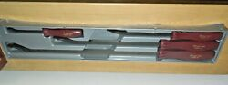 Snap On Pry Bar 4 Pc Set New Sealed In Pkg Anniversary Edition Gold Lettering