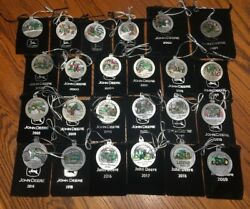 New -1996-2020 Set Of John Deere Pewter Ornaments-one Time Chance At This Price