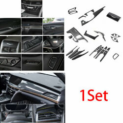 For Cadillac Ct6 2016-18 Abs Carbon Fiber Car Interior Decoration Full Set Trim