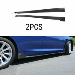 For 2019-2020 Cadillac Ct5 Real Carbon Fiber Outer Door Panel Trim Side Skirts