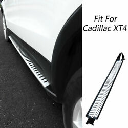 Fit For Cadillac Xt4 18-20 Aluminum Chrome Running Board Side Pedals Foot Pedal