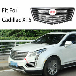 For Cadillac Xt5 2016-2020 Chrome Front Center Mesh Grille Grill Cover Trim 1pcs