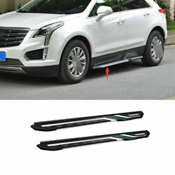 Fit For Cadillac Xt4 2018-20 Aluminum Black Running Board Side Pedals Foot Pedal