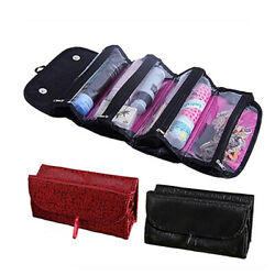 Portable Travel Foldable Cosmetic Bag Large Capacity Wash Roll Up Toiletry Bags $10.99