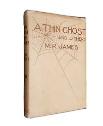 + M.r. James + A Thin Ghost And Others + Rare Dustwrapper + Fine Copy +