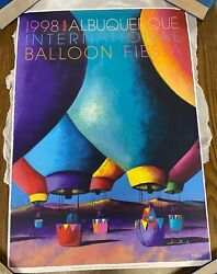 1998 Albuquerque Balloon Fiesta Poster By Downe Burns Signed And Numbered.