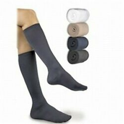 Activa Sheer Therapy Womenand039s Ribbed Knee High Dress Socks 15-20 Mmhg Closed Toe