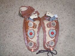 1950's Kit Carson Die Cast Cap Gun And Leather Holster Set