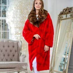 Women Mink Fur Jacket Natural Winter Fashion Real Fur Coat Outwear With Collar