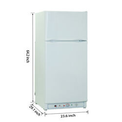 Smad Rv Refrigerator 10 Cu. Ft. Electric And Propane Gas Camper Motorhome Dometic