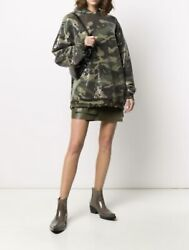 Nwt Authentic R13 Camo Sequin Hoodie Size Medium Fits L 795 Sold Out