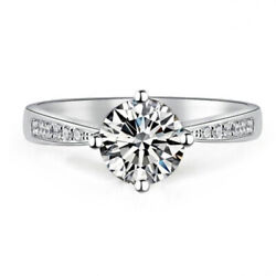 Best Seller 1 Ct Gia Certified Round Cut Diamond Engagement Ring 14k White Gold