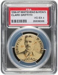 1896-97 Whitehead And Hoag On Time Starch Clark Griffith Psa Vg-ex 4 26536308
