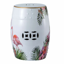 Ceramic Garden Stool Patio Indoor Outdoor Plant Stand End Table Decorative Stool