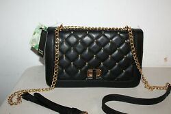 NWT BADGLEY MISCHKA BLACK CROSSBODY BAG WITH SQUARE STUDS $199 PURSE $60.99
