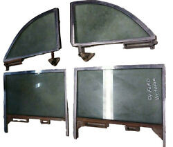 1952 1953 1954 Ford Victoria Hardtop Side And Rear Quarter Windows, Set Of 4