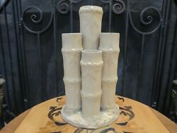 Wedgwood Unglazed Caneware Tall Bamboo Flower Vase 4 Canes Spills Spouts C.1790