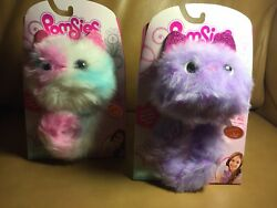 Pomsies Purple Speckles And Rainbow Patches Interactive Soft Plush Pom-pom Pet