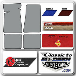 78-87 Gm G Body Buick T Type And Power And0396and039 Floor Mats 2 Door Cutpile And Essex