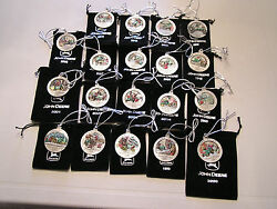 New -1996-2019 Set Of John Deere Pewter Ornaments-one Time Chance At This Price