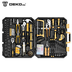 198pcs Us Handyman Tool Set Combination Wrenches,repair Tools With Plastic Box