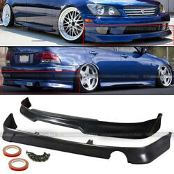 Fit 01 05 IS300 GD GR GRDY Style Front amp; TR D Style Rear Bumper Lip Body Kit