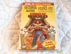 Crippled Masters Kung-fu The Punch Of Death Chinese Hercules Dvd Triple Feature