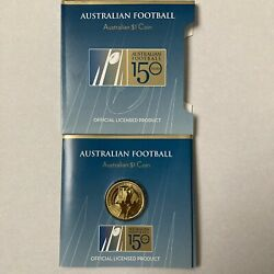 2008 Unc 1 150 Years Australian Football Coin Afl Official Licensed Product