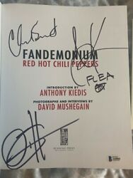 Red Hot Chili Peppers Signed Autographed Book Anthony Kiedis Flea Coa