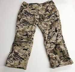 Under Armour Ua Grit Hunting Pants Scent Control Barren Camo 1347443-999 Size 42